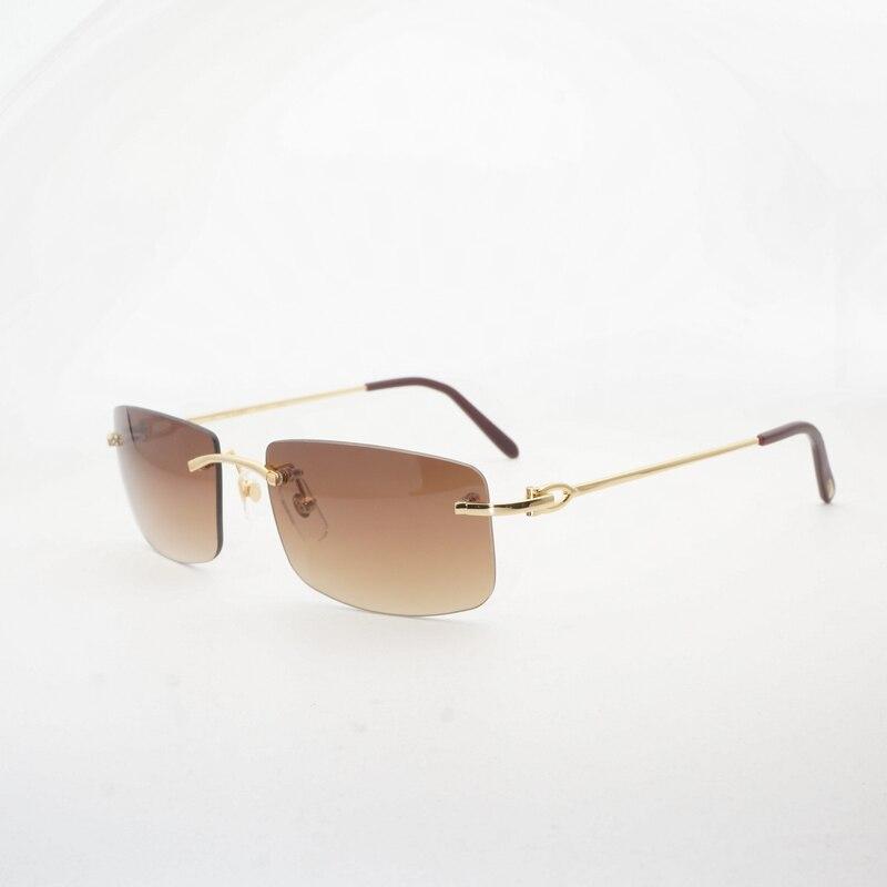 Vintage sans monture lunettes de soleil hommes clair lunettes cadre luxe lunettes nuances lunettes de mode Oculos Gafas pour conduite pêche 011