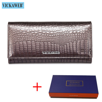 Alligator Patent Leather Women's Wallet Bags and Wallets New Arrivals Women's Wallets Color: Gray and Box Ships From: Russian Federation