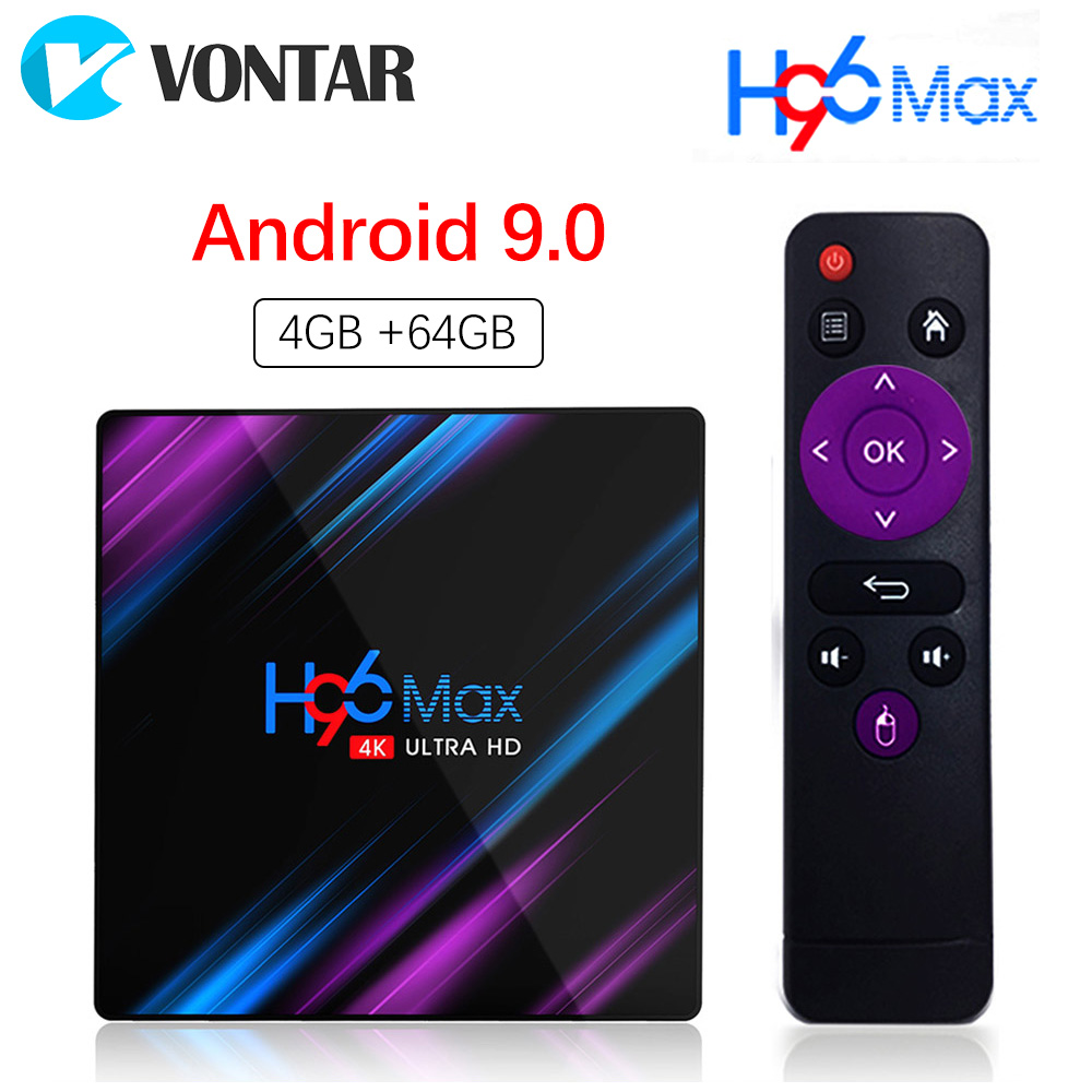 Android 9.0 4GB 64GB TV Box Google entrée vocale Rockchip RK3318 prise en charge Youtube 4K USB3.0 Google Play Store Netflix Smart TV Box