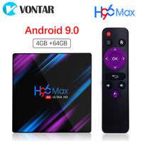 Android 9.0 4GB 64GB TV Box Google Voice Input Rockchip RK3318 Support Youtube 4K USB3.0 Google Play Store Netflix Smart TV Box