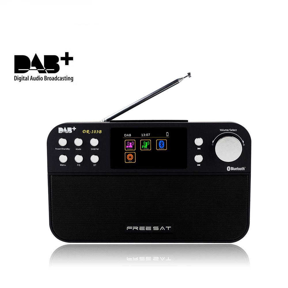 Dmyco Colorful Screen FM Digital Radio For DAB+ DR-103B DAB+ 2.4-inch TFT Support Bluetooth 4.0 Display Portable Radio digital vehicle dab radio car radio tuner with fm transmitter include antenna y4421a