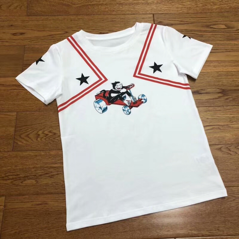2018 new style women summer tops and white tshirt with cat racer design star tee for femme