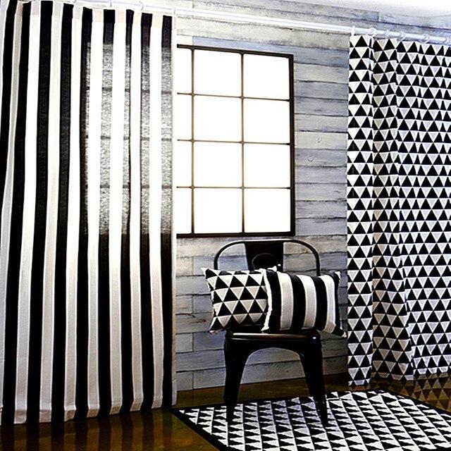 Fenêtre Voiture Rideau Salon Noir Blanc Dessin Animé 3D Impression Rideaux  Moderne Oeillet Rideau Chambre Enfants