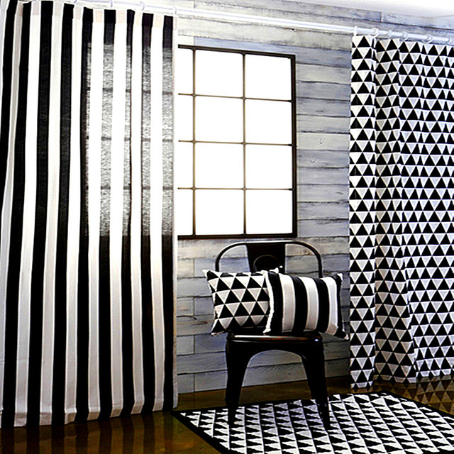 Black And White Curtains For Living Room How To Layout A Long Narrow Window Car Curtain Cartoon 3d Print Modern Grommet Bedroom Kids Children S