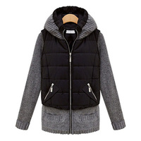 Autumn And Winter Outerwear Women S Fashion Vest Small Cotton Padded Jacket Plus Size Slim Medium