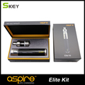 15 pcs/lot black color aspire e sigaret kit 5 ML aspire Atlantis Pyrex Tank with 3000 mah Battery Aspire Elite Kit wholesale