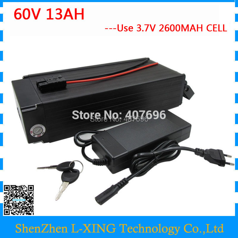 Free customs fee 900W 60V Lithium battery 60V 13AH electric bicycle battery 60 V battery pack with 15A BMS 67.2V 2A ChargerFree customs fee 900W 60V Lithium battery 60V 13AH electric bicycle battery 60 V battery pack with 15A BMS 67.2V 2A Charger