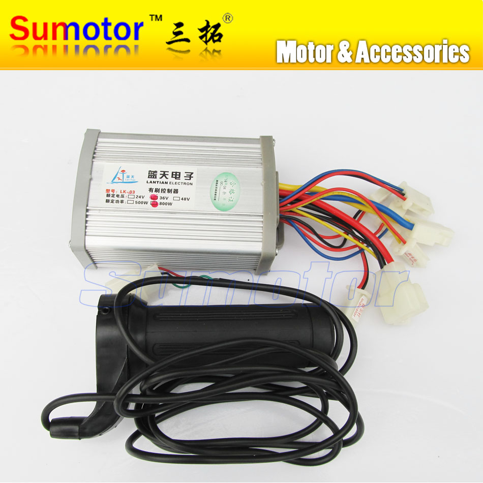 DC 36V 800W brush motor speed controller with Handle, for electric bicycle electric bike controller, e-bike controller scooter цены