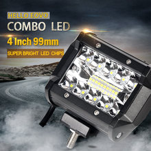 2PCS 4 inch LED Bar LED Work Light Bar for Driving Offroad Boat Car Tractor Truck 4×4 SUV ATV 12V 24V Rated 60W Actual 15W