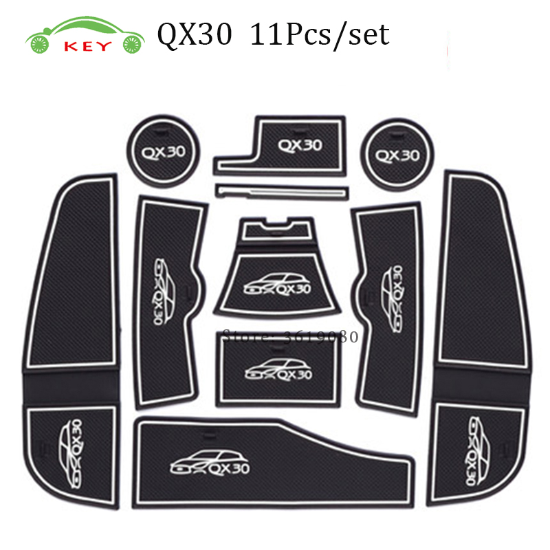 2018 Infiniti Qx30 Interior: Car Gate Slot Mat For Infiniti QX30 Anti Slip Door Pad