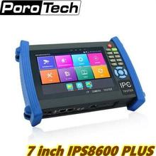1080P 7 inch IPC-8600plus 1920*1200 resolution Analog+IP+AHD+CVI+TVI+SDI 6 in 1 multifunction cctv tester