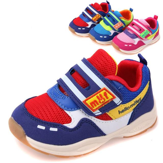 Новая коллекция весна 1 пара супер качество дети спортивные марка мода малыш обувь, Дети мальчик / девочка обувь, Дешевые марка мягкая