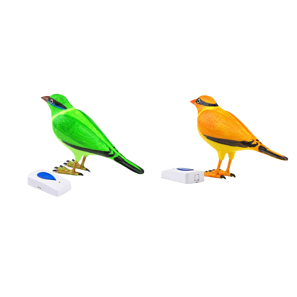 Unique Design Wireless Digital Jingle Bell Clear Simulation Bird Sound Home Remote Control Chime Doorbell