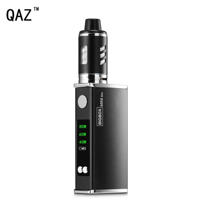 Qaz 80 W cigarrillo electrónico vape mod kit 2200 mAh batería 3 ml 0.3ohm atomizador pluma LED hookah vaporizador vaper e cigarrillos