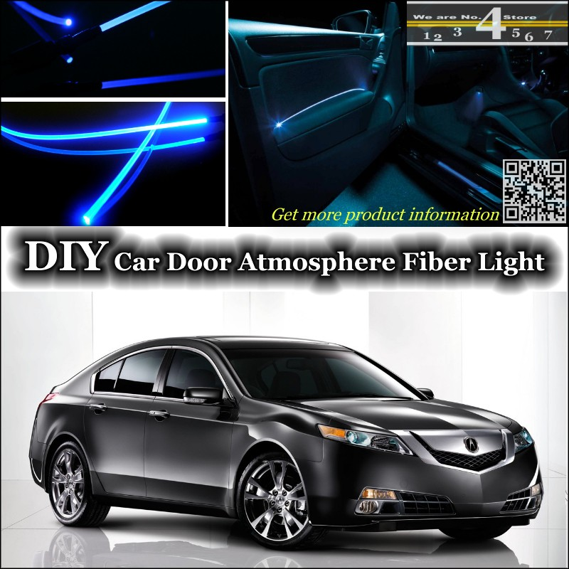 For Acura TL interior Ambient Light Tuning Atmosphere Fiber Optic Band Lights Inside Doo ...