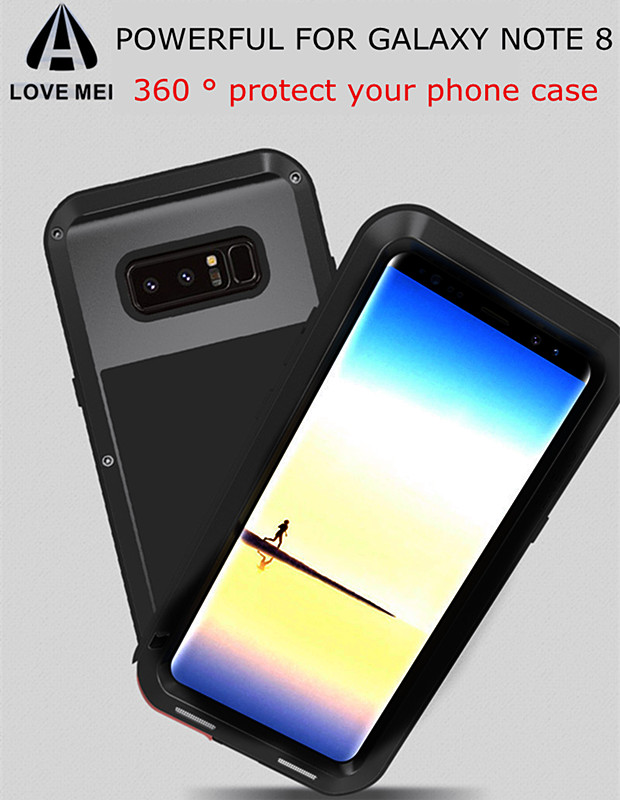 Original LOVEMEI Powerful Protective For Samsung Galaxy Note 8 Life Waterproof Shockproof Dirtproof Outdoor Sports Metal