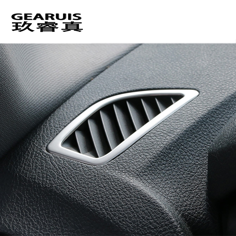 Car styling Dashboard Air Conditioning Outlets frame decorative covers Stickers trim For BMW 1 series f20 auto Accessories f20 carbon fiber replace car mirror cover cap trim for bmw f20 auto styling 2012 2014