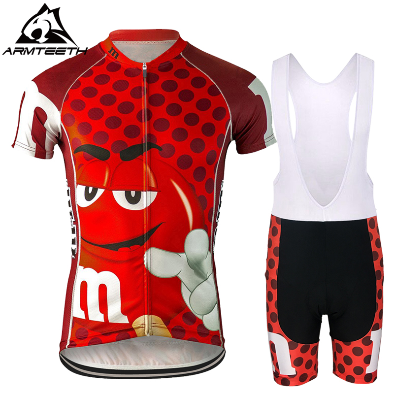 Armteeth Brand Mens Bicycle Wear MTB Cycling Clothing cycling sets Bike MMS Cycle shirt Summer Male cycling jersey set