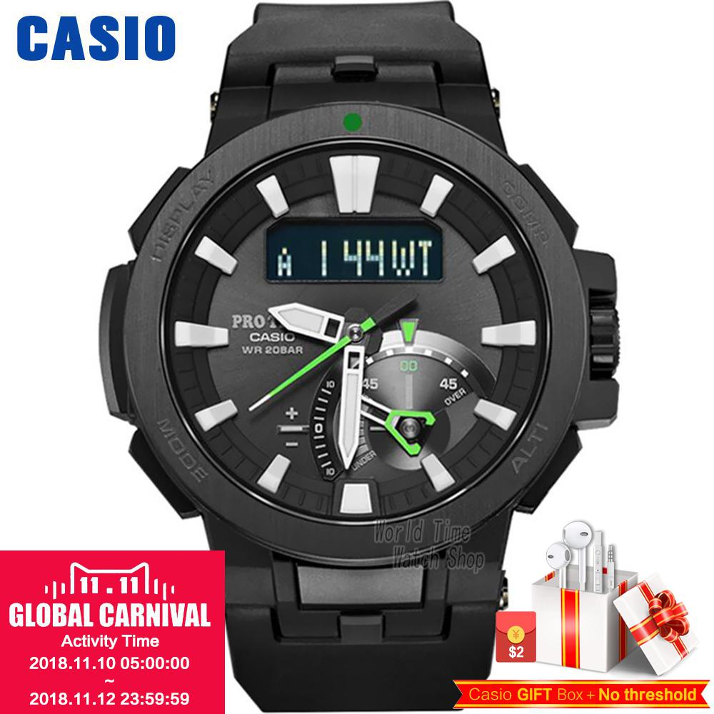 Casio watch Six Board radio solar energy multi - sensor waterproof climbing table PRW-7000-1A PRW-7000-1B PRW-7000FC-1P casio prw 7000 1b