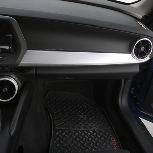 Image 2 - SHINEKA ABS Interior Kits Copilot Passenger Side Panel Decoration Trim Carbon Fibre Style for 6th Gen Chevrolet Camaro 2017+