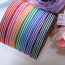 (5 yards/lot) 1(10mm)  Yarn-dyed weaving grosgrain ribbon printed gift wrap decoration ribbons