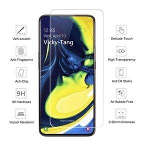 """Image 3 - Vetro temperato Per Samsung Galaxy Protezione Dello Schermo di Samsung A80 2019 A805F A80 A805 SM A805F GalaxyA80 UN 80 Velo di Vetro 6.7"""""""