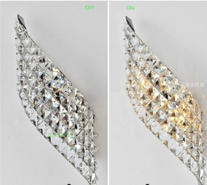 Image 3 - Wall Sconce Modern LED Crystal Wall Lamp With 2 Lights For Home Lighting Wall Sconce Arandela Lamparas De Pared