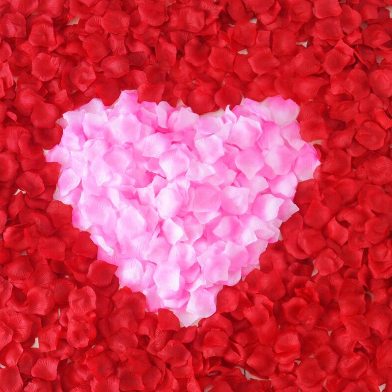 100pcs Silk Romantic Artificial Rose Petal Flower Leaf For Wedding Party Home Decoration Rosa Decorative DIY Wreath Fake Flowers