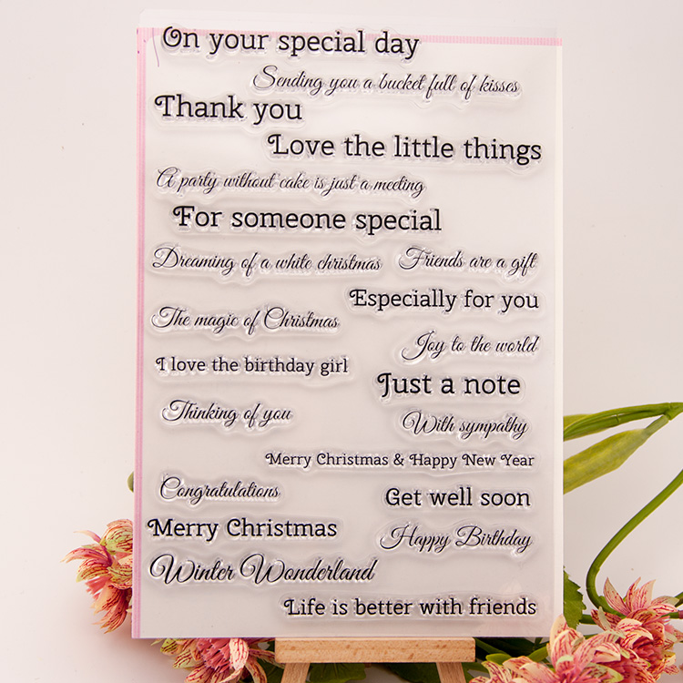 special day clear stamp for diy scrapbooking photo album transparent stamp for wedding gift christmas gift EE-035 alphabet letters design silicon stamps scrapbooking stamp for kids diy paper card wedding gift christmas gift poto album rz 032