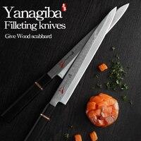 Японии 33 слоя VG10 нож из дамасской стали филе ножи Yanagiba сашими японские суши кухонный мясницкий нож терка мелкая