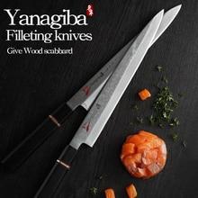 Японии 33 слоя VG10 Дамасская сталь нож филе ножи Yanagiba сашими суши японский приготовления Кливер Терка мелкая