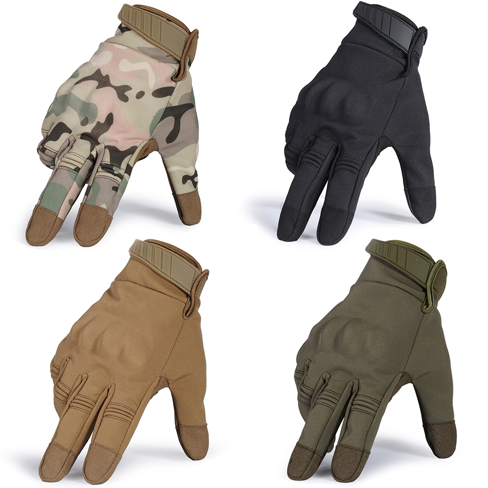 Touch Screen Cold Weather Waterproof Windproof Winter Warmer Fleece Snowboard Bicycle Tactical Hard Knuckle Full Finger Gloves in Men 39 s Gloves from Apparel Accessories