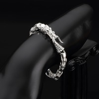 HERMOSA Jewelry Fashion Chinese Dragon Shape Stamp 925 Silver Chain Wholesale Bracelet 7 9 Inch SL000463