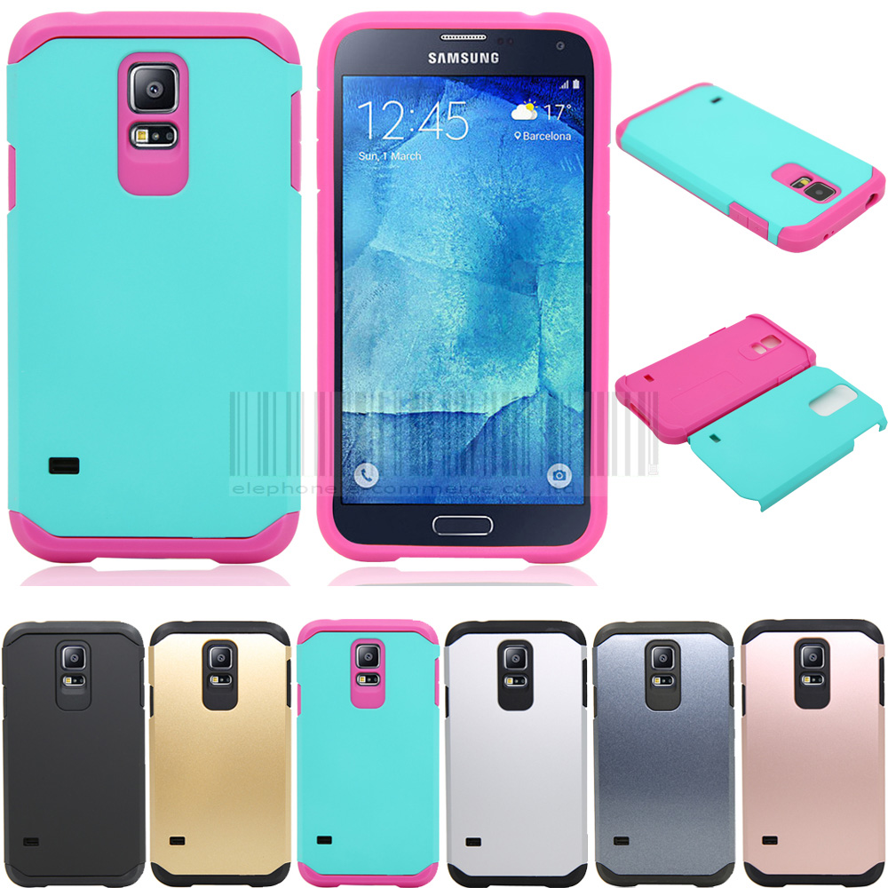 Slim Hybrid Shockproof Armor <font><b>Case</b></font> Hard Protective Cover For <font><b>Samsung</b></font> <font><b>Galaxy</b></font> <font><b>S5</b></font> Neo SM-G903F/<font><b>S5</b></font> <font><b>G900F</b></font> I9600 image