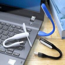 цена на 2Pcs Mini Adjustable Flexible USB LED Light Lamp + USB Fan Powerbank PC Notebook Perfect for Night Working Book Reading Light