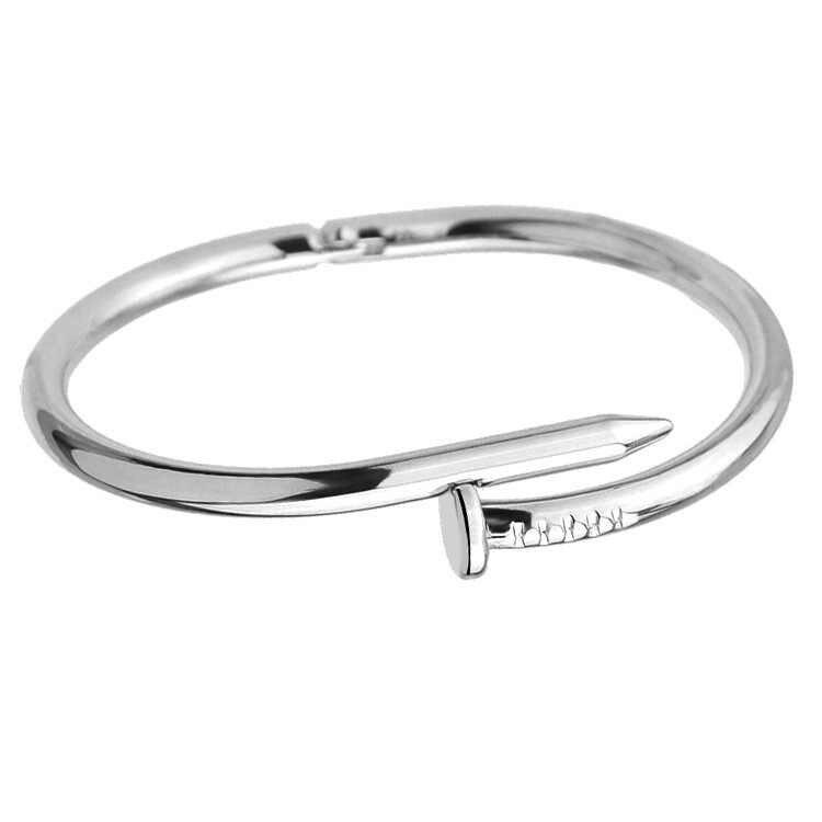 Sekrup Kuku Manset Gelang Tembaga Gelang untuk Wanita Emas Pulsera Perhiasan Stainless Steel Sekrup Gelang Pulseiras Feminin