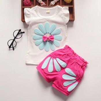 e724750b9 Bibicola bebé Niñas Ropa conjuntos niños ropa de moda de verano chaleco +  corto 2 piezas traje de vetement enfant fille niños ropa