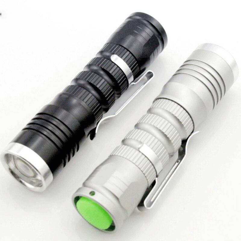 Protable Q5 Led Flashlight Mini Zoom Light Aluminum Alloy Flashlight Long-range Rechargeable Night Riding 14500/5 Battery