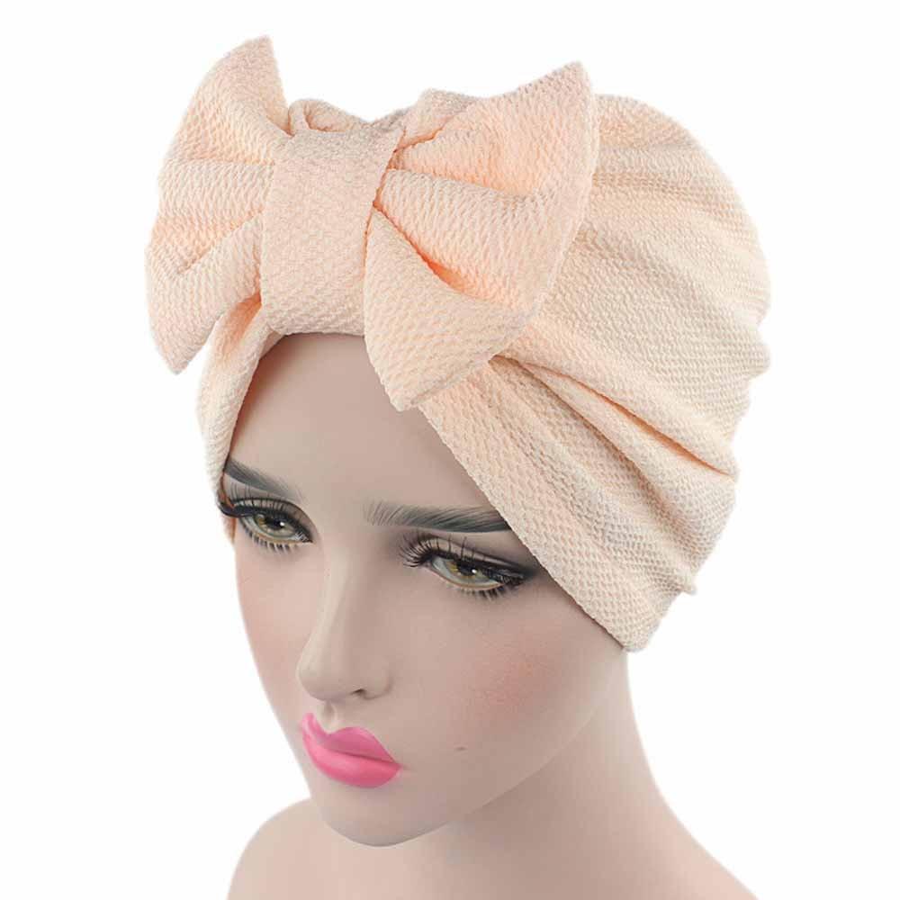 Women Bow Cancer Chemo Hat   Beanie   Scarf Turban Head Wrap Cap 315