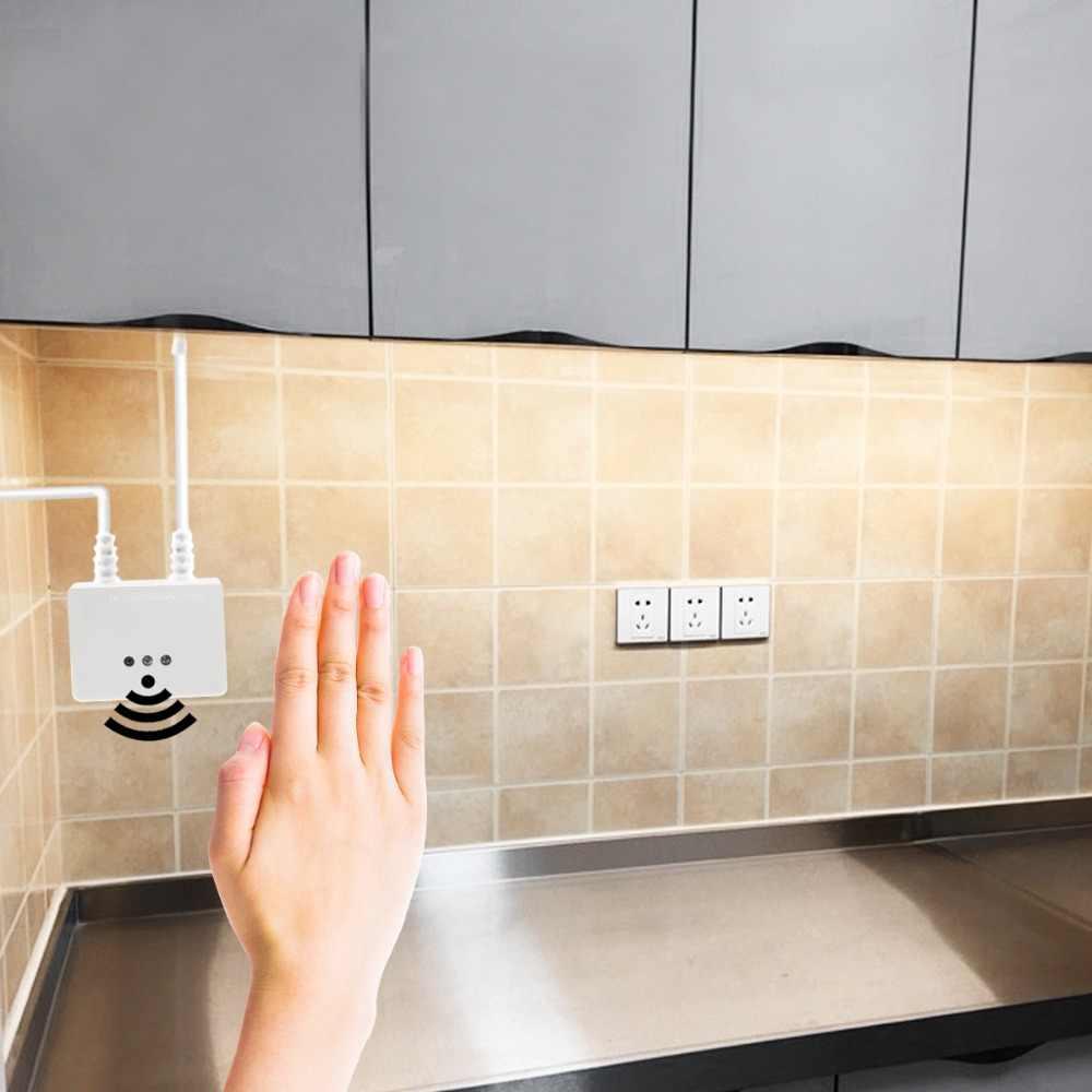 12 В постоянного тока ИК Беспроводной рука волна Сенсор выключатель затемнения руки развертки Светодиодные ленты DIY кухонные шкафы лампа для платяного шкафа украшения