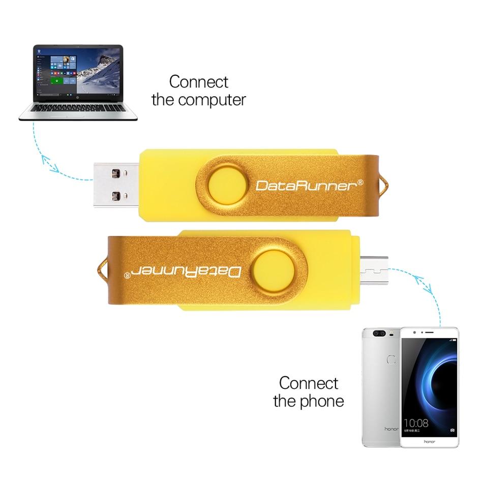 Image 4 - DataRunner usb 3.0 USB Flash Drive Dual Drive OTG Pen Drive 16GB 32GB 64GB 128GB 256GB Pendrive Micro USB Stick Flash Drive-in USB Flash Drives from Computer & Office