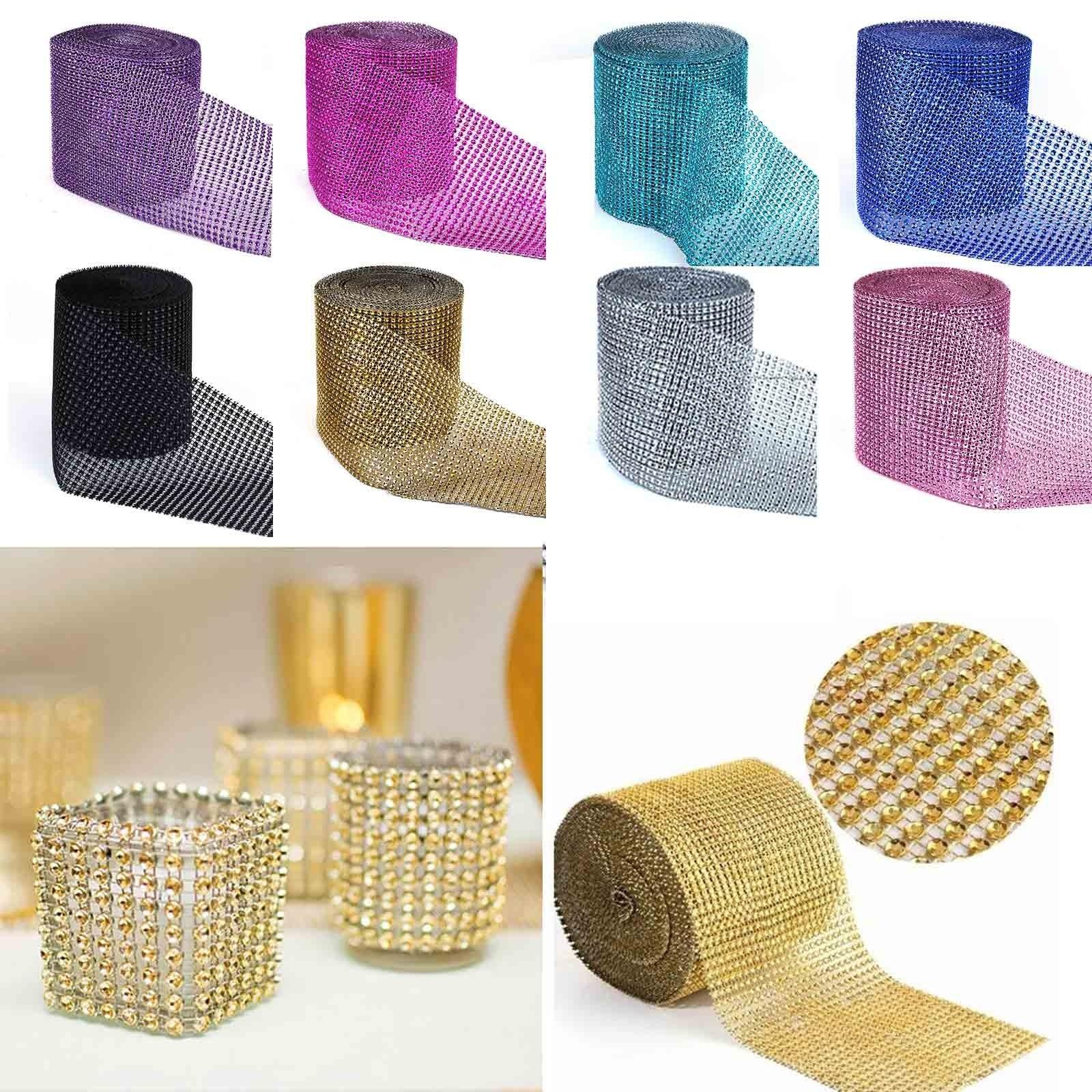 915cm fashion rhinestone chain diamond mesh trim wedding 1yard915cm 24 row fashion mesh trim bling wrap cake roll tulle crystal ribbons junglespirit Gallery