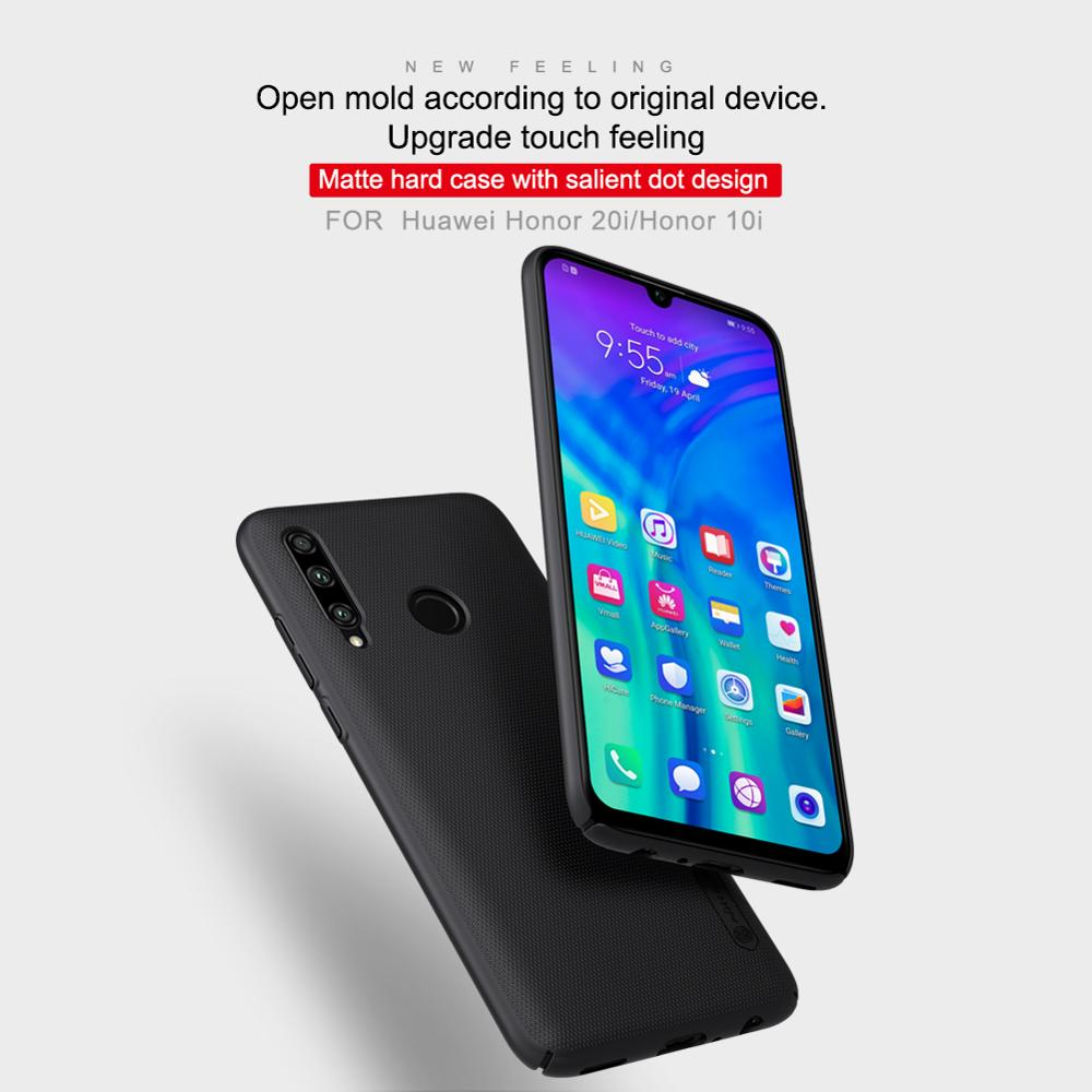 10pcs/lot wholesale Nillkin Super Frosted Shield Case For Huawei Honor 10i PC Hard Back Cover Case For Huawei Honor 20i case-in Fitted Cases from Cellphones & Telecommunications    2
