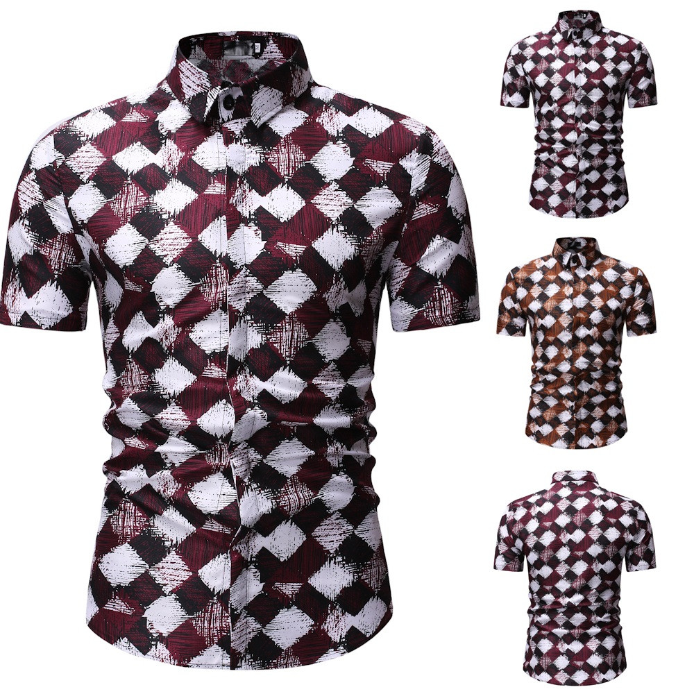Supzxu 2019 Shirt Men Clothing Short Sleeve Mens Dress Shirts Camisa Masculina Summer Hawaii Casual Male Flower Print Shirt