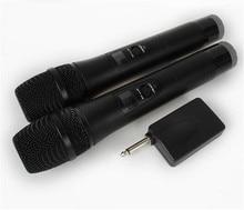 2 Karaoke Wireless Microphone 1receiver MIC mikrofon KTV Karaoke player Echo System Digital Sound Audio Mixer Singing Machine E8 недорого
