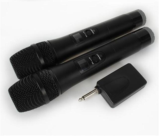 2 Karaoke Wireless Microphone 1receiver MIC mikrofon KTV Karaoke player Echo System Digital Sound Audio Mixer Singing Machine E8