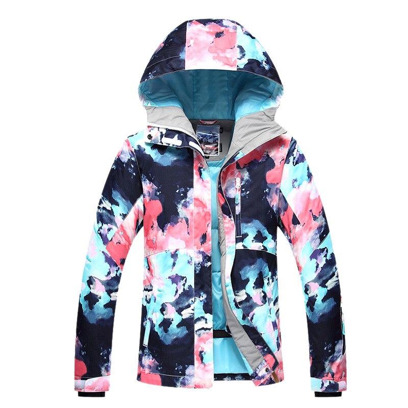 GSOU зимняя Лыжная куртка для женщин, лыжный костюм, зимний водонепроницаемый дешевый лыжный костюм для отдыха на открытом воздухе, Женское п