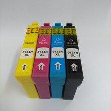 цена на Vilaxh For epson T0731-T0734 T0732 compatible ink cartridge for epson Stylus C79 C110 C90 C92 CX3905 TX210 TX100 TX105 TX200