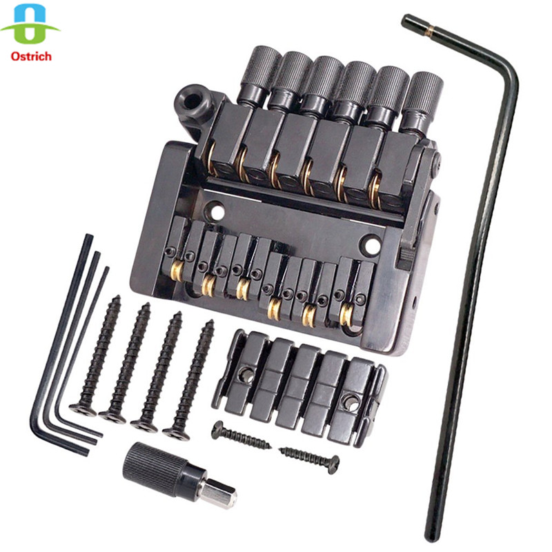 1 Set of 6 String Roller saddle Tremolo Bridge Tailpiece for Headless Electric Guitar Parts new black 6 strings guitar tailpiece tremolo bridge roller saddle tremolo bridge tailpiece for tremolo bridge w arm