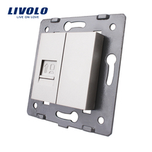 Livolo Белый пластик материалы, ЕС стандартный DIY аксессуар, функция ключ Для Компьютерная розетка, VL-C7-1C-11